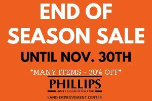 End of the Season Sale
